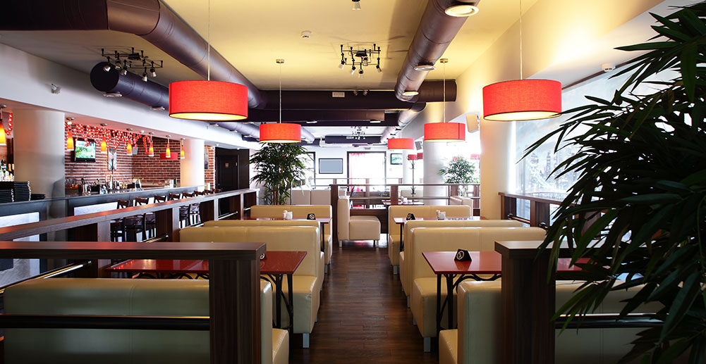 Large Bright Restaurant Dining Room