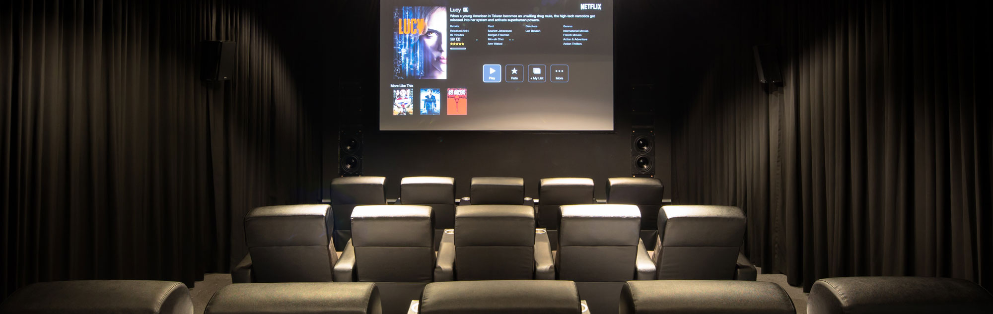 Three Row Home Theater